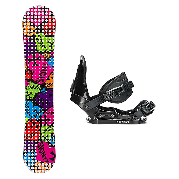 Sionyx Hearts Black S Stealth Girls Snowboard and Binding Package, , 600