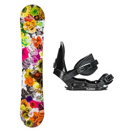 SLQ Secret Yellow Hybrid Stealth Girls Snowboard and Binding Package, , 256
