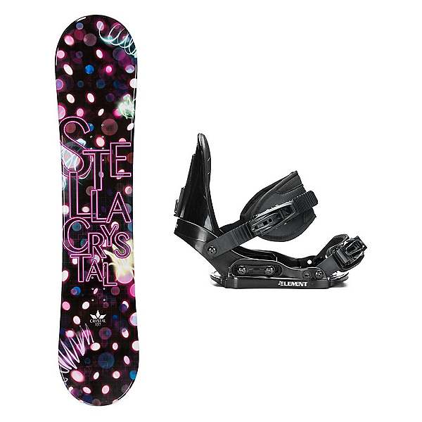Stella Crystal Pink Stealth Girls Snowboard and Binding Package 2018, , 600