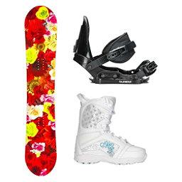 SLQ Secret Red Hybrid Venus Girls Complete Snowboard Package, , 256