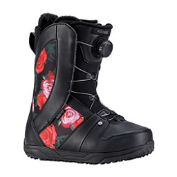 Ride Sage Boa Coiler Womens Snowboard Boots 2019, Black Rose, 256