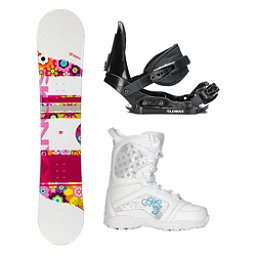 Sionyx Flower Girl White Venus Girls Complete Snowboard Package, , 256