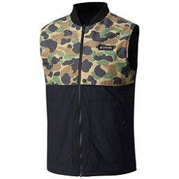 Columbia Reversatility Mens Vest, Black, Buffalo Camo, 256