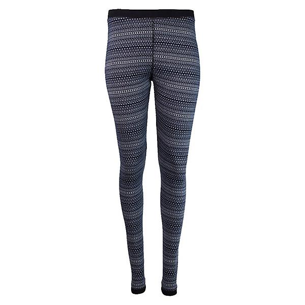 Purnell Nordic Snow Leggings Womens Long Underwear Pants, Black-White, 600