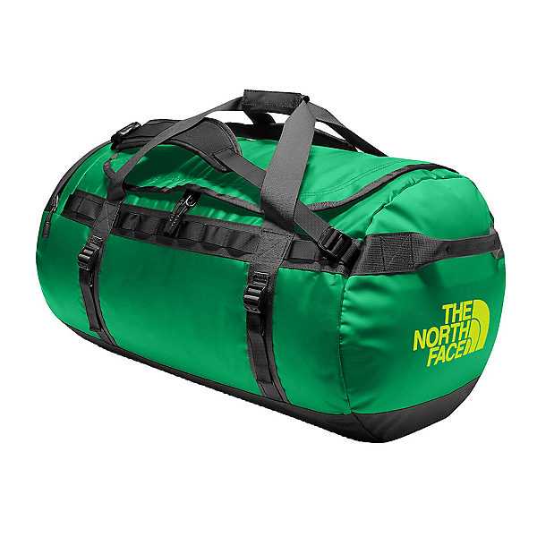 The North Face Base Camp Duffel Large Bag, Primary Green-Asphalt Grey, 600
