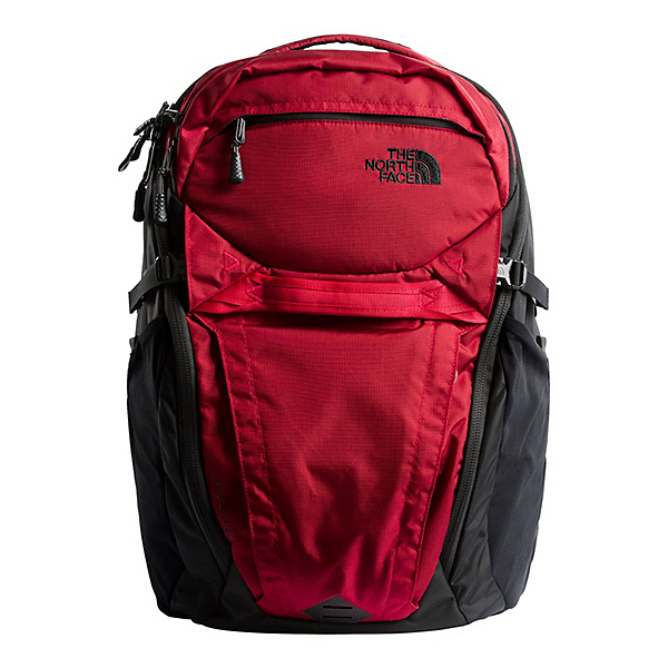 The North Face Router Backpack, Rage Red Ripstop-TNF Black, 600