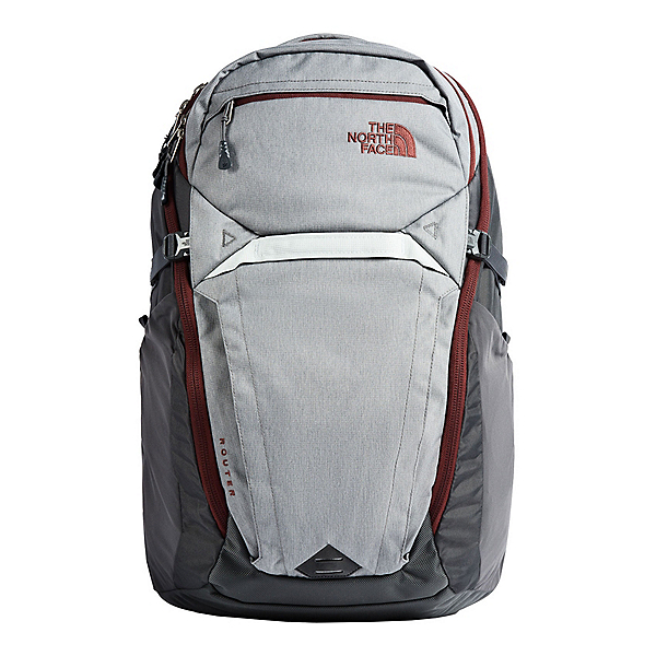 The North Face Router Backpack, Zinc Grey Light Heather-Sequoi, 600