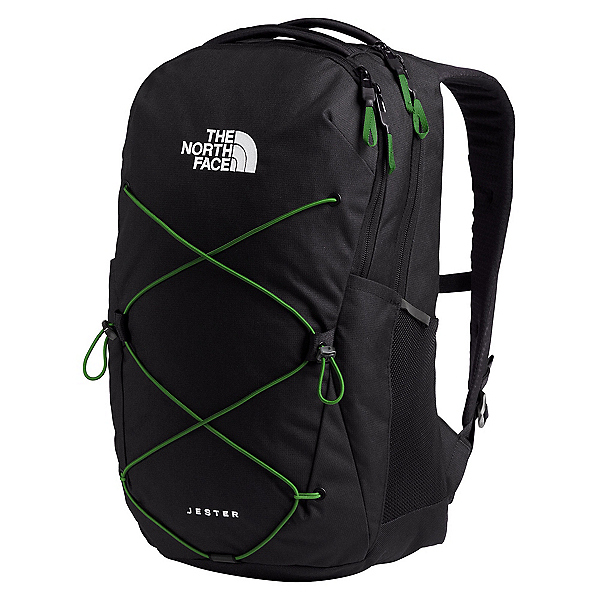 The North Face Jester 20 Backpack, TNF Black Heather-Adder Green, 600