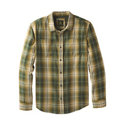 Prana Holton Plaid Long Sleeve Mens Shirt, Velvet Green, 256