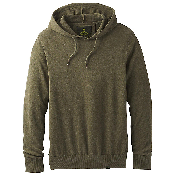 Prana Throw-On Hooded Mens Sweater 2019, Cargo Green, 600