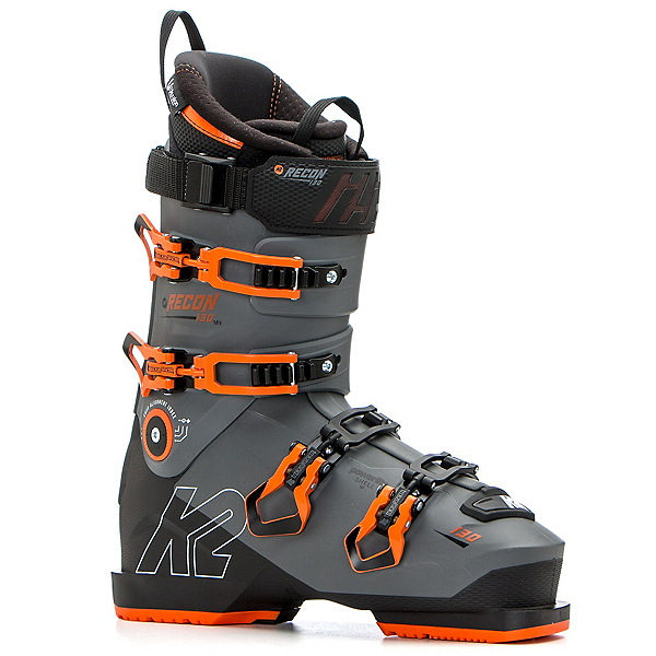 K2 Recon 130 MV Ski Boots, Dark Gray-Orange, 600