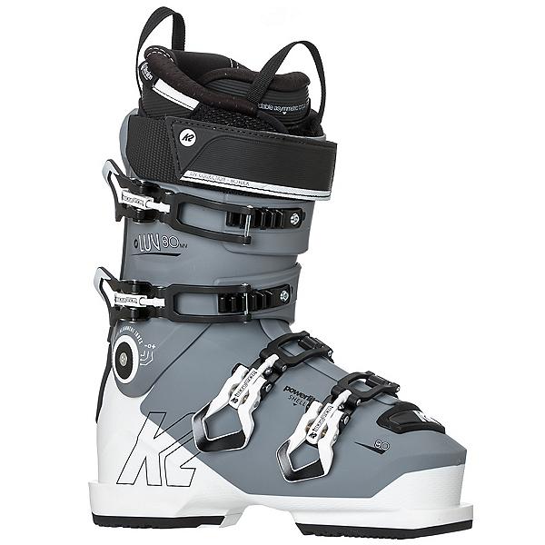 K2 Luv 80 MV Womens Ski Boots, Light Gray-White, 600