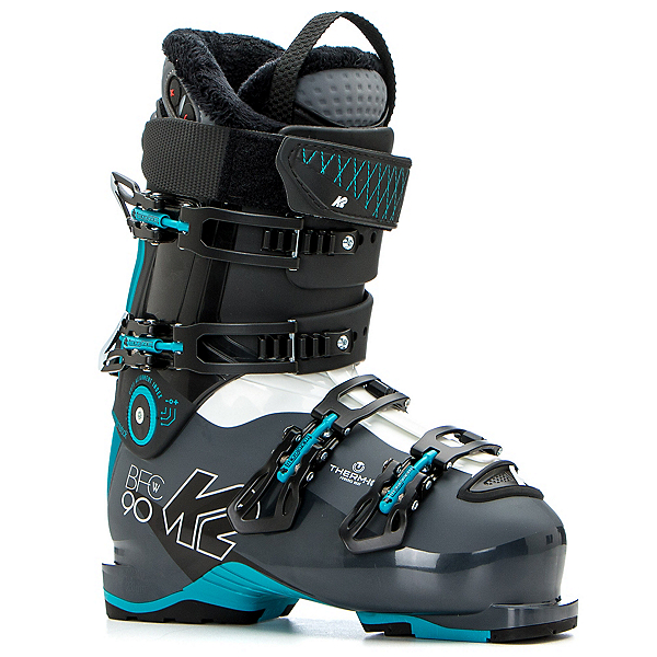 K2 B.F.C. 90 W Heat Womens Ski Boots, Gray-Blue, 600