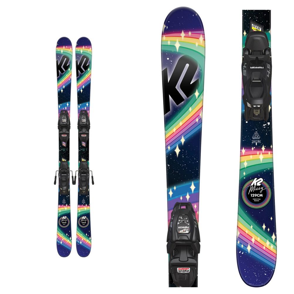 K2 Missy Kids Skis with FDT 7.0 Bindings