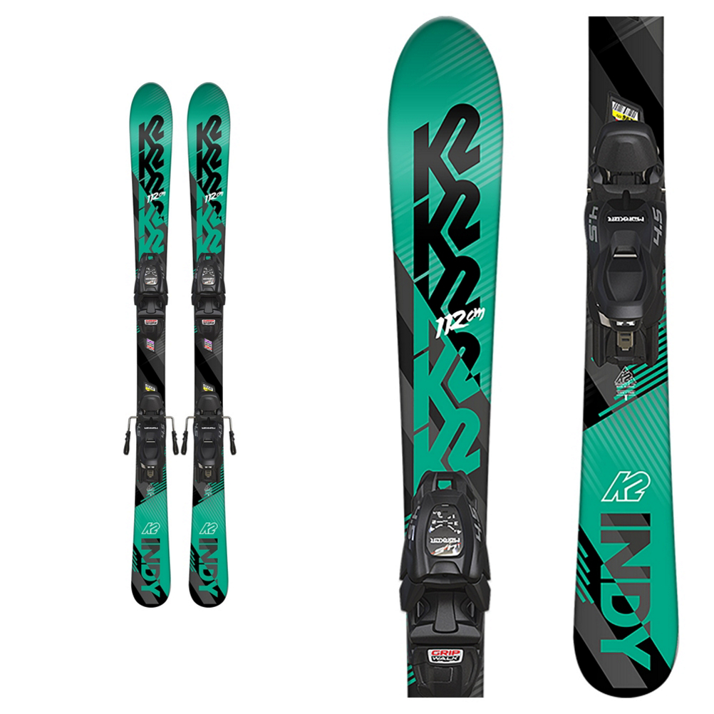 K2 Indy Kids Skis with FDT 4.5 Bindings