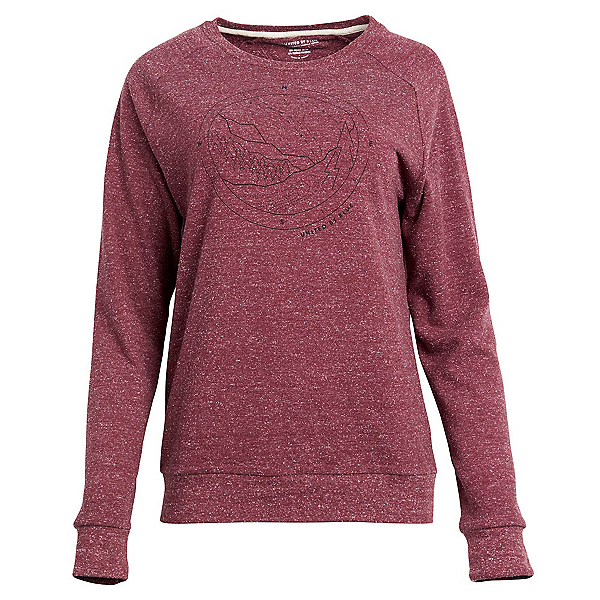 United By Blue Polaris Crew Pullover Womens Sweatshirt, Wine, 600