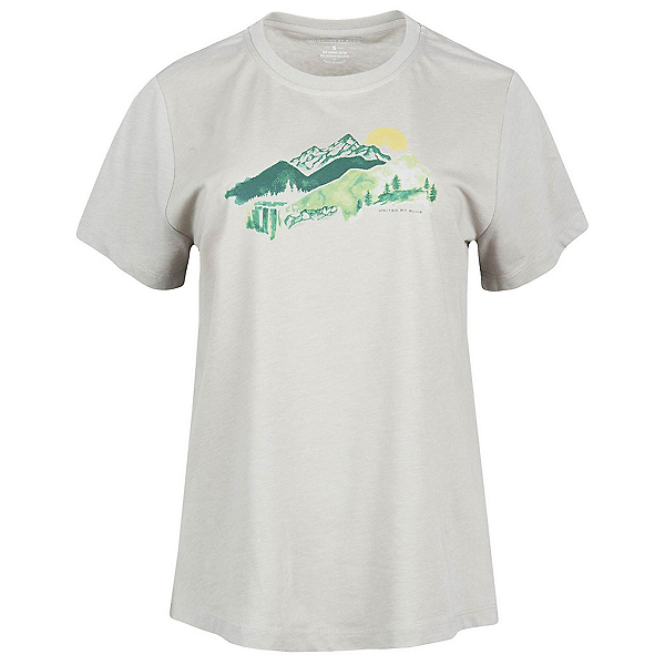 United By Blue Mountain Drift Womens T-Shirt, Grey, 600