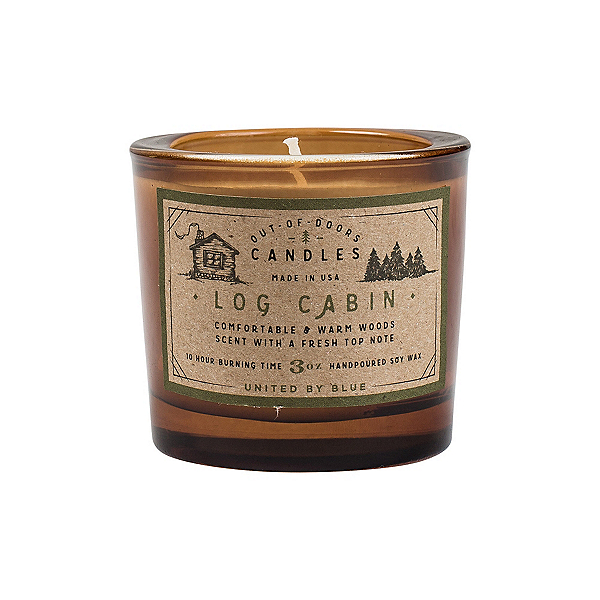 United By Blue Out-of-Doors Candle, Log Cabin, 600