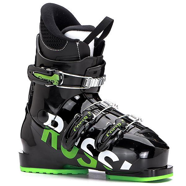 Rossignol Comp J3 Kids Ski Boots, Black-Green, 600