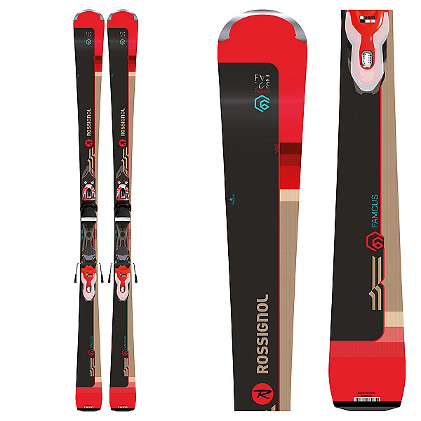 07c640a6bb6 Rossignol Famous 6 Womens Skis with Xpress 11 Bindings 2019