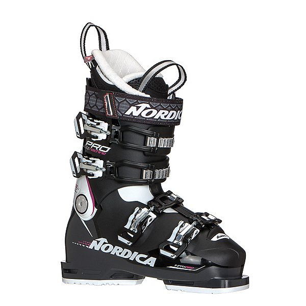 Nordica Promachine 85 W Womens Ski Boots, Black-White, 600