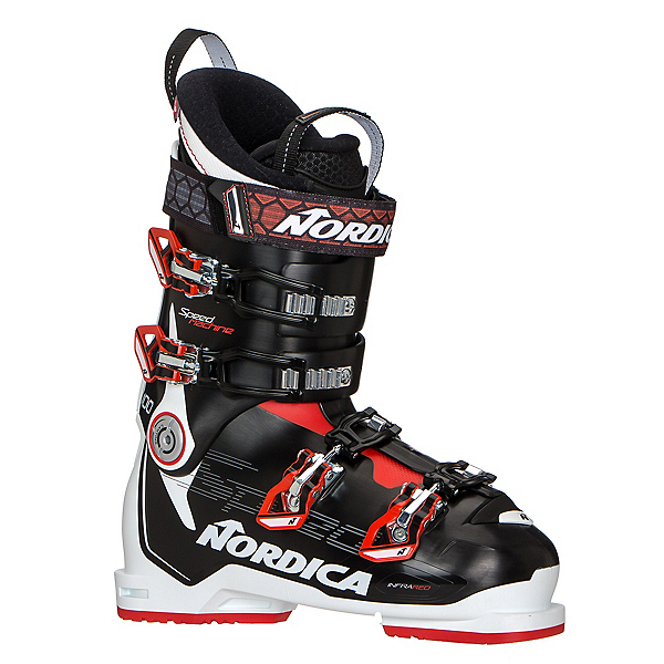 Nordica Speedmachine 100 Ski Boots, Black-White-Red, 600