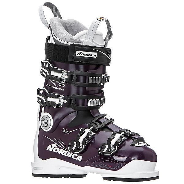 Nordica Sportmachine 85 W Womens Ski Boots, Maroon-White-Black, 600