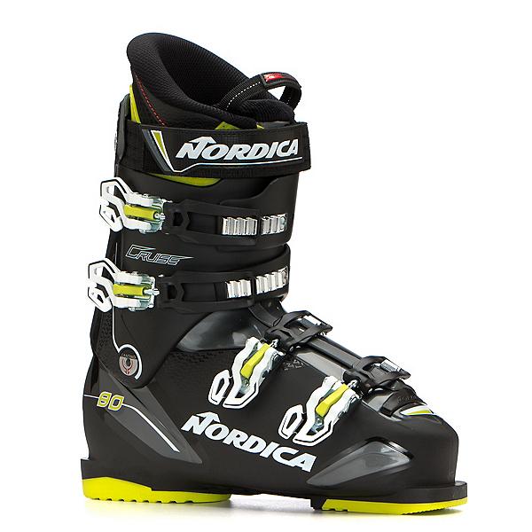 Nordica Cruise 80 Ski Boots, Black-Black-Lime, 600