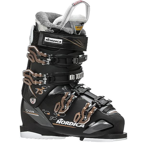 Nordica Cruise 75 W Womens Ski Boots, Black-Anthracite-Bronze, 600