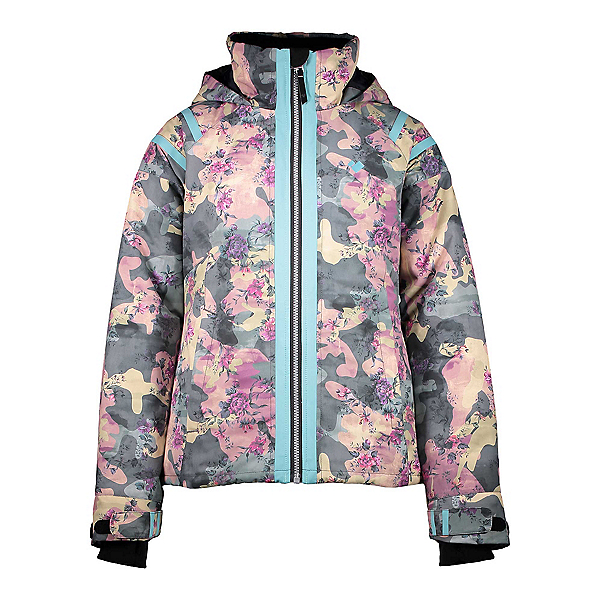 Obermeyer Taja Print Girls Ski Jacket, Vera Camo, 600