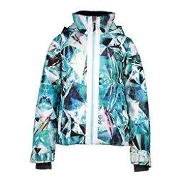 Obermeyer Taja Print Girls Ski Jacket, Aqua Aura, 256