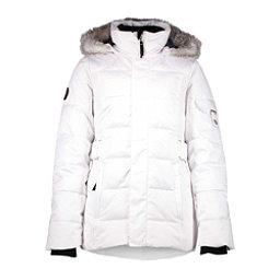 Obermeyer Tess Girls Ski Jacket, White, 256