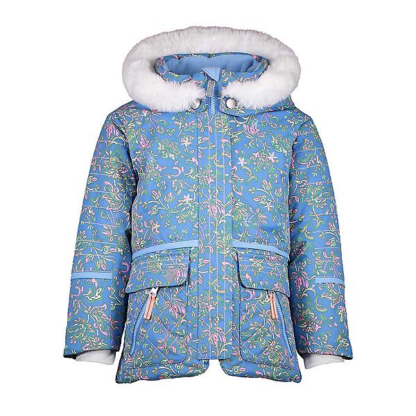 Obermeyer Lindy Toddler Girls Ski Jacket, Honeysuckle Blue Print, 600