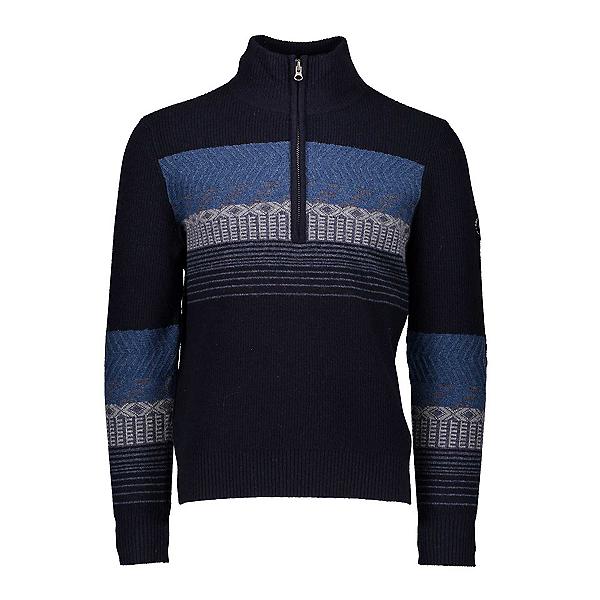 Obermeyer Textured 1/2 Zip Mens Sweater, Nocturnal Blue, 600