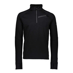Obermeyer Flex 1/4 Zip Mens Long Underwear Top, Black, 256