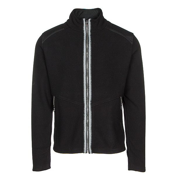 FERA Jake Ridged Fleece Mens Jacket, Black Ridge, 600