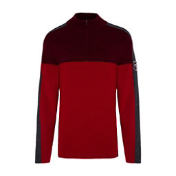 Meister Klaus Half Zip Mens Sweater, Chili Red-Rich Red-Charcoal Gr, 256