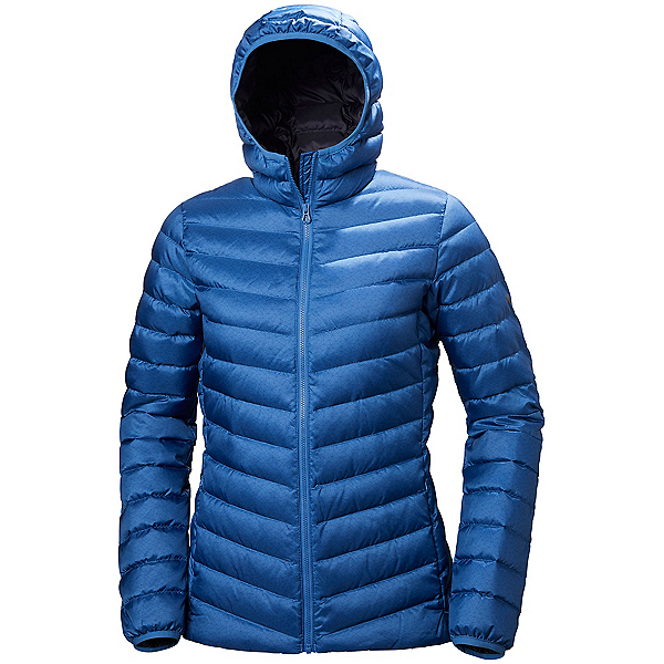 Helly Hansen Verglas Hooded Down Insulator Womens Jacket, Stone Blue Print, 600