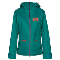 Helly Hansen Powderqueen Womens Insulated Ski Jacket, Everglade, 256
