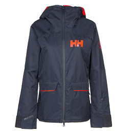 Helly Hansen Powderqueen Womens Insulated Ski Jacket, Graphite Blue, 256