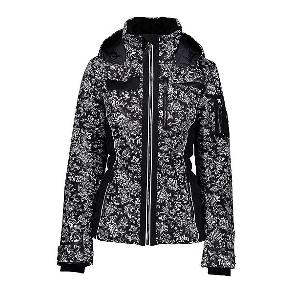 Obermeyer Hadley Womens Insulated Ski Jacket, Honeysuckle B&w Print, 600