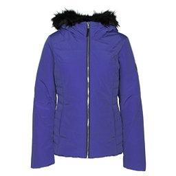Obermeyer Beau w/ Faux Fur Womens Insulated Ski Jacket, Bleu Blooded, 256