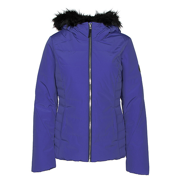 Obermeyer Beau w/ Faux Fur Womens Insulated Ski Jacket 2019, Bleu Blooded, 600