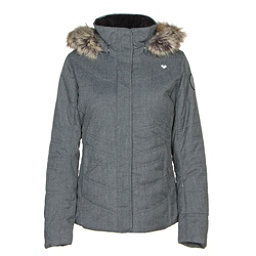 Obermeyer Tuscany II w/Faux Fur Womens Insulated Ski Jacket, Charcoal, 256