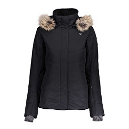 Obermeyer Tuscany II w/Faux Fur Womens Insulated Ski Jacket, Black, 256