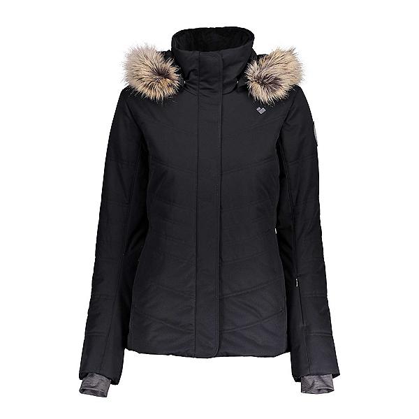 Obermeyer Tuscany II w/Faux Fur Womens Insulated Ski Jacket, Black, 600