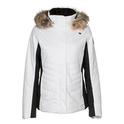 Obermeyer Tuscany II w/Faux Fur Womens Insulated Ski Jacket, White, 256