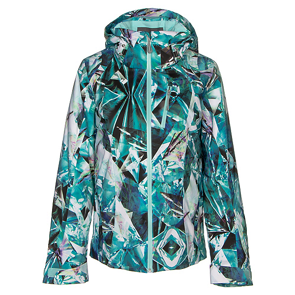 Obermeyer Jette Womens Insulated Ski Jacket, Aqua Aura, 600