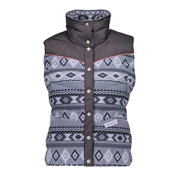 Obermeyer Carson Down Womens Vest, Gunsmoke Print, 600