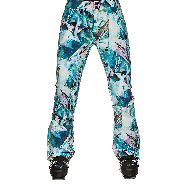 Obermeyer Printed Bond Womens Ski Pants, Aqua Aura, 600